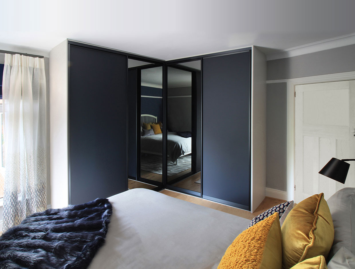 Contemporary Corner wardrobe