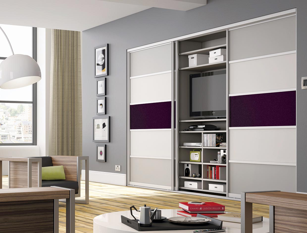 Living Spaces with fitted TV unit