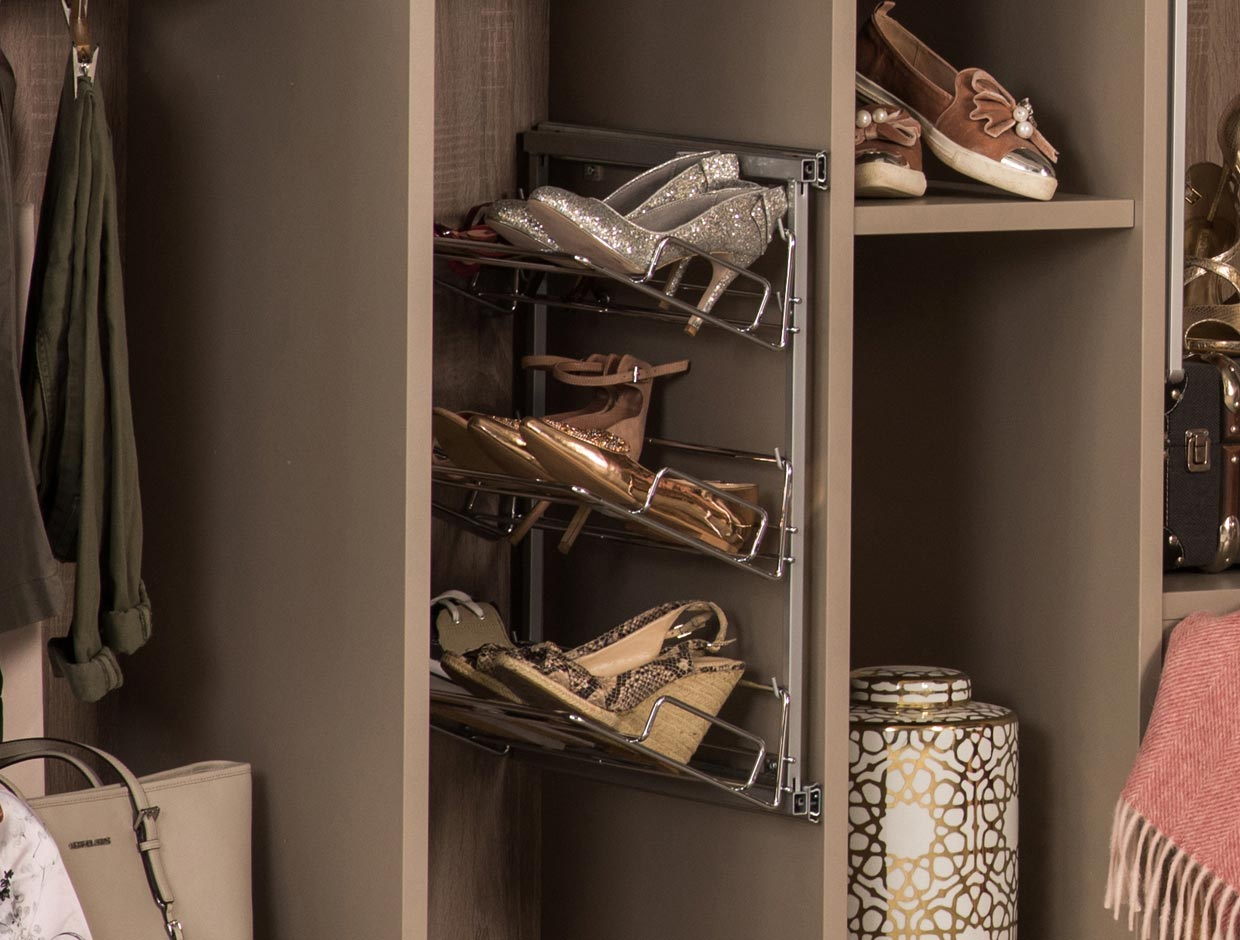 Sliderobes Pull-Out Shoe Rack