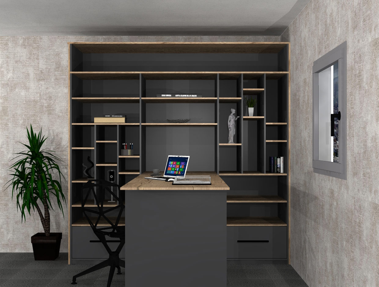 Changing a bedroom into a home office