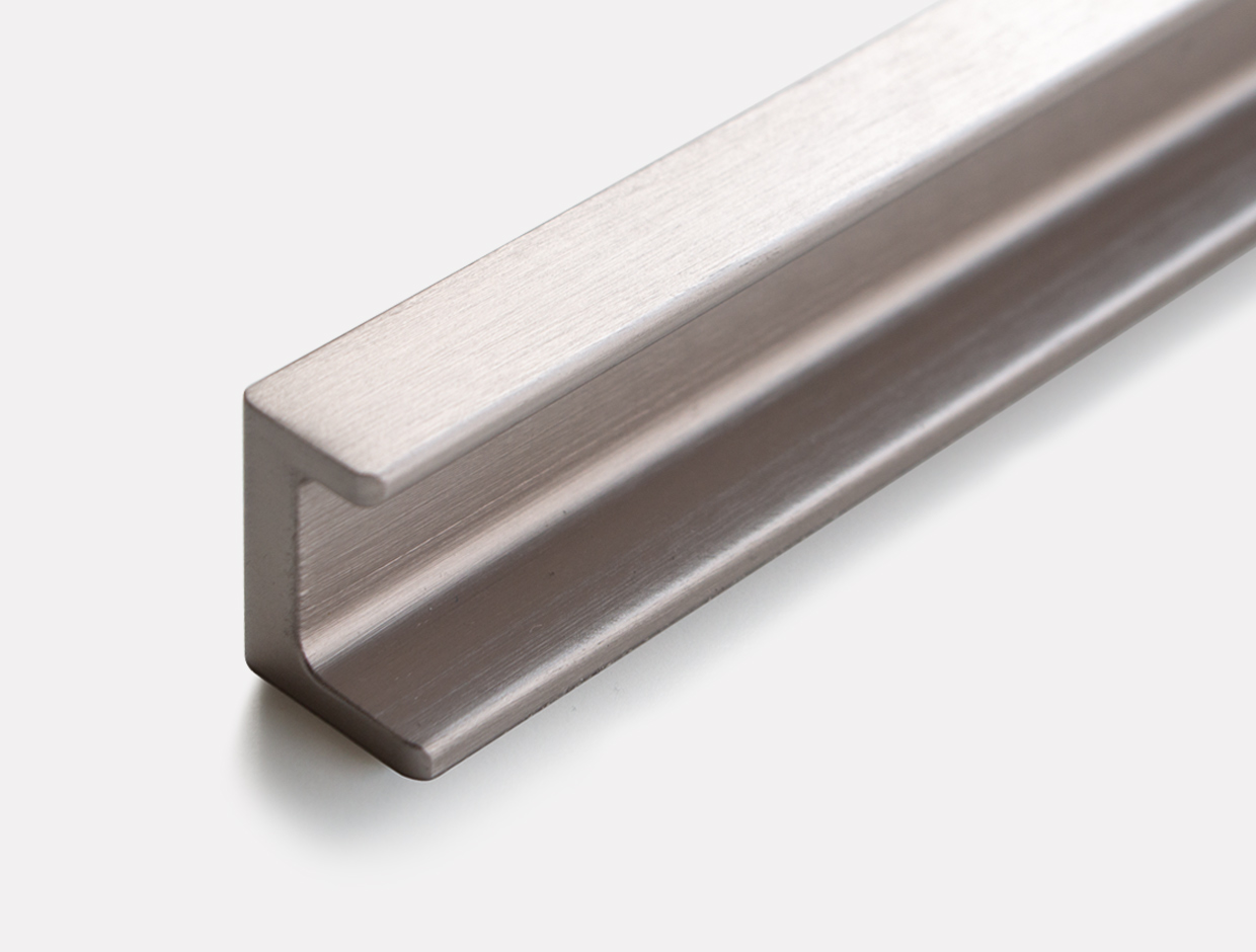 Sliderobes Brushed Metal Flat Handle